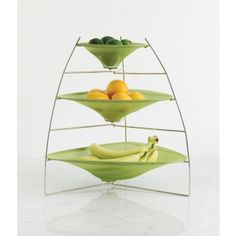 3 tier corner food tray for keeping fruit visible and easily grab-able