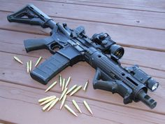 300 Blackout ready for supressor with threaded muzzle device.