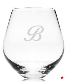Every couple loves a thoughtful and personalized gift. These Lenox monogram stemless wine glasses are the perfect choice for a couple who love to host.