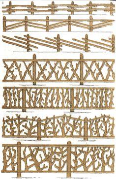 деревянный забор на дачу 5