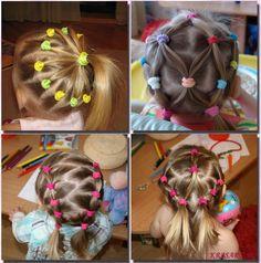 детские прически на длинные волосы - Поиск в Google