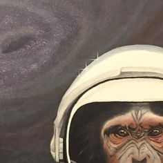 """provocative-planet-pics-please.tumblr.com Cropped Work in progress - Fly Me to the Moon Oil on canvas 24""""x30"""" - Very excited to debut the piece @mikehessbrewing for the Far Out 2 art show opening April 13th at 6pm. Hosted by @artbykami . Come enjoy some great art by some amazing artist! #art #artist #artoftheday #mikehessbrewing #artofvisuals #artwork #arte #space #astronaut #nasa #instaartist #look #lookoftheday #fresh #music #beautiful #oil #oilpainting #artshow #instacool #instalikes…"""