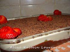 Culinária-Receitas - Mauro Rebelo: Pavê de Brigadeiro, Pavê de Morango com Chocolate, Bolo na Travessa  ou Delícia de MOrango com Mousse de Leite Ninho