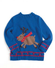 a4e738055 Ravelry  Reindeer - child pattern by Sue Stratford Jumper Knitting Pattern