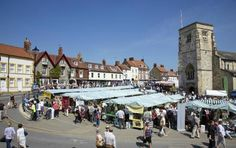 Malton, Yorkshire on Market day. I have lived in this town.