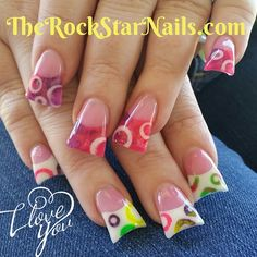Instagram photo of acrylic nails by therockstarnails