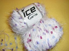 Eyelash Blend Yarn by Ice Yarns purple white by designsbymisschris, $6.00