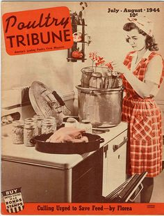 This July, 1944 Poultry Tribute espouses the virtues of culling to aid the war effort.