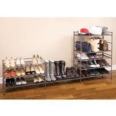 Amazon.com - Seville Classics 3-Tier Iron Shoe Utility Rack - Free Standing Shoe Racks