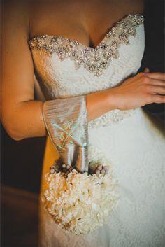 embellished sweetheart neckline | Trenholm Photo | see more on http://burnettsboards.com/2014/02/vintage-golf-themed-wedding/