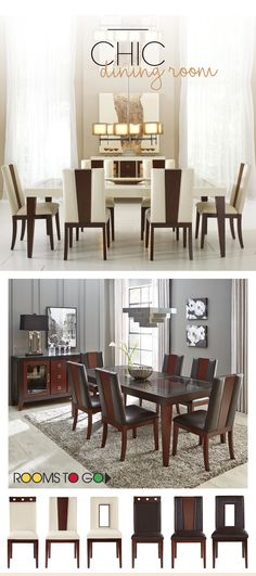 Create A Chic Dining Room By Choosing The Perfect Chair To Compliment Your  Dining Table.