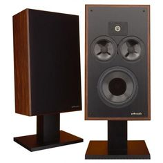 """Matthew Polk designed the Monitor 10 in 1977. They are very efficient and sound excellent, even on mediocre electronics. The polypropylene woofer uses """"Bass Radiator Technology,"""" (passive radiator) tuned to produce deep, musical bass. The tweeter was the then-popular Peerless K010DT soft dome tweeter, also found in many other excellent speakers & studio monitors of the era. Two polypropylene midwoofers completed the design.  They have a believably realistic soundstage. A true classic."""