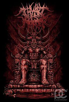 Thy Art Is Murder - King Of Hell on Behance