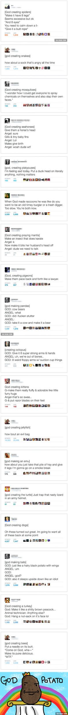 Twitter Reveals How God Created Animals