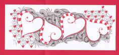 Valentine is the challenge this week.  For a very special friend I made this Valentine card.