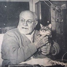 Henri Matisse and his cat
