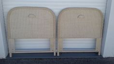 Beautiful Pair of Twin Round Wicker Headboards Rattan Cottage Coastal  Tropical  #Unbranded #ropical