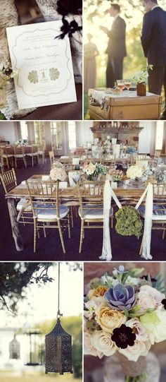 Dallas, Texas Wedding with Vintage Details by Blue Lotus and Sarah Kate | Style Me Pretty