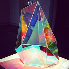 "Gemma Smith - Acrylic ""Boulder"" sculpture  (radiant,) 2010"
