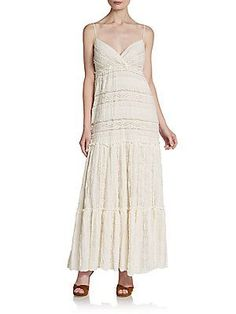 Willow & Clay Camisole Lace Maxi Dress - Ivory - Size