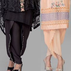Pakistani fashion is welcomed globally due to Tulip Pants. Tulip Pant is latest and hot trend of women's bottom wear. This is overlapped pant style that is also known as Samosa Shalwar. There are several patterns of Tulip Trouser but highly demanded are pearls decorated tulip, double shaded tulip, and embroidered tulip shalwar