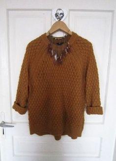 Jesienny sweterek brąz karmel H&M XL 42