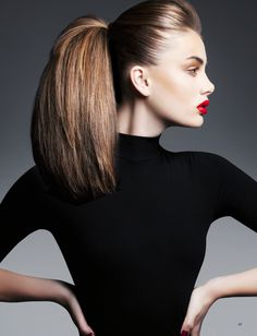 Glamorous ponytail with extensions #editorial #hairstyle