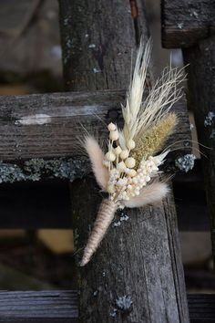 Rustic wedding buttonhole, Woodland dried boutonniere, Vintage or country wedding, Dried Flower Grooms Buttonhole Floral Wedding, Fall Wedding, Rustic Wedding, Country Wedding Bouquets, Wheat Wedding, Rustic Groom, Bridal Bouquets, Wedding Groom, Elegant Wedding