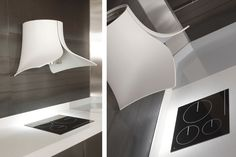 Hotte aspirante design par les espagnols de Pando / Modèle Onna en DupontTM Corian® / Yooko