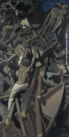 Akseli Gallen-Kallela The Abduction of Sampo oil on canvas, 103 × 65 cm, Malmö Konstmuseum, Malmö, Sweden. Helene Schjerfbeck, Life Paint, Art Database, Triptych, Paintings For Sale, Pretty Pictures, Great Artists, Art For Sale, Les Oeuvres