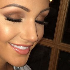 Michelle Keegan poses in make-up (by Krystal Dawn) before Josh Wright's birthday party, 8 November 2014