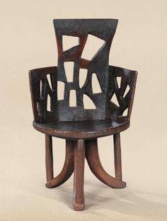 ein-bleistift-und-radiergummi:  Chaise, Région de Djimma, Gouragé, Oromo, Ethiopie.Jimma Chair, Gourage, Oromo, Ethopia.