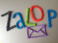 Zalop, letters created with a 3D pen by Ruud Janssen, Breda, Netherllands