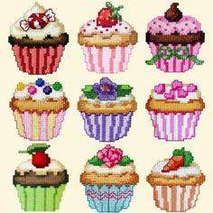 Free Cupcake Cross Stitch Patterns | Golden Needle Designs