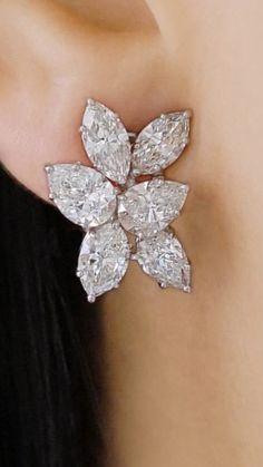 Fantasy Jewelry, Gothic Jewelry, Luxury Jewelry, Real Diamond Earrings, Diamond Earing, Emerald Jewelry, Gold Jewelry, Jewellery, Emerald Cut Diamonds