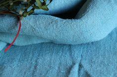 R 567 antique handloomed lin HEAVEN BLUE elegant ;리넨, cushion,tumble dry, upholstery fabric by grainsack on Etsy