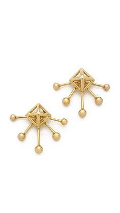 Rebecca Minkoff Pyramid Fan Stud Earrings | SHOPBOP