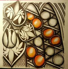 """Tickled To Tangle: """"It's a String Thing"""" #144 Tiles  From Adri van Wyk (South Africa"""