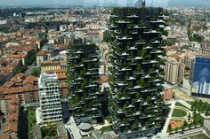 Bosco Verticale (Vertical Forest) is a pair of award-winning residential towers in the Porta Nuova district of Milan, Italy designed by Boeri Studio (Stefano Boeri, Gianandrea Barreca and Giovanni La Varra). Sustainable Architecture, Sustainable Design, Vertical Forest, Green Facade, Urban Agriculture, Tower Design, Diy Greenhouse, Urban City, Concept Architecture