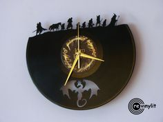 Vinyl record wall clock Lord of the Rings Lord of the by Revinylit