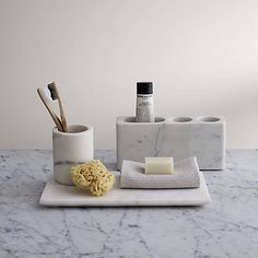 Buy John Lewis & Partners White Marble Bathroom Tumbler from our Toothbrush Holders & Tumblers range at John Lewis & Partners. John Lewis, Marble Bathroom Accessories, Bath Accessories, Kitchen Accessories, Gold Bad, Objet Deco Design, White Marble Bathrooms, Tile Bathrooms, Home Office Design
