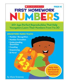 Take a look at this First Homework: Numbers Paperback by Scholastic Teaching Resources on #zulily today!
