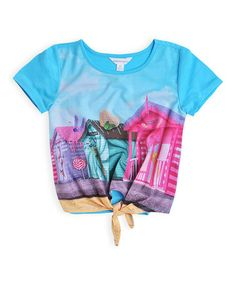 Loving this Orchid Ice Beach Hut Tie-Front Top - Girls on #zulily! #zulilyfinds