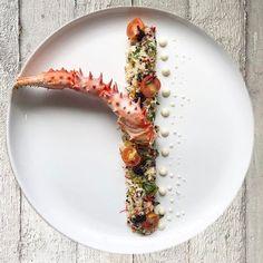 King Crab Claw Crab Tartare Lumpfish Caviar Couscous Salad