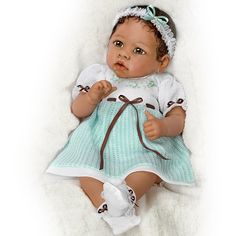 Alicia's Gentle Touch Realistic Interactive Baby Doll by Ashton Drake  $149.99--exquisitely created.