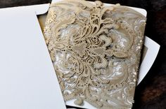 The MOST BEAUTIFUL invitation or stationary wrap!  Laser cut