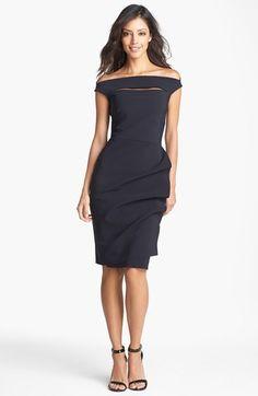 La Petite Robe by Chiara Boni Off Shoulder Sheath Dress