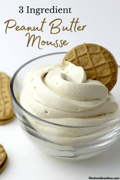 Peanut Butter Mousse, Peanut Butter Recipes, Keto Peanut Butter Cookies, Easy Desserts, Delicious Desserts, Yummy Food, Dessert Dips, Eat Dessert First, How Sweet Eats