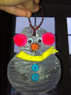 "Snowman Ornament made out of Glue! Make Green Grinch Ornaments or Christmas Tree ornaments using ""who glue""!"