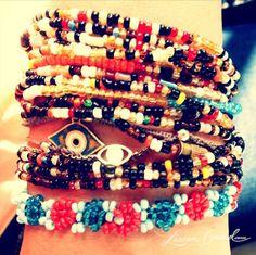 beaded bracelets i picked up while on safari in tanzania